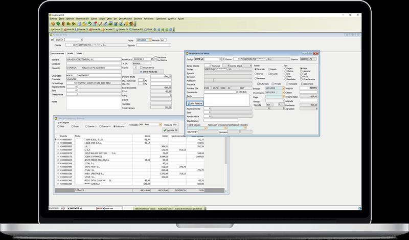 Programa de Contabilidad Analítica de Ontisoft, empresa informática y diseño web en Ontinyent